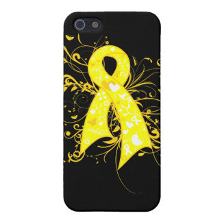 Ewings Sarcoma Floral Swirls Ribbon iPhone 5 Cases