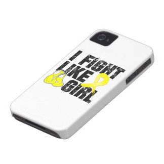 Ewings Sarcoma I Fight Like A Girl Grunge Case-Mate iPhone 4 Case