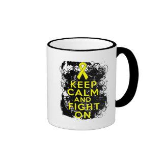 Ewings Sarcoma Keep Calm and Fight On Coffee Mugs