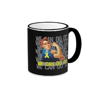 Ewings Sarcoma Rosie WE CAN DO IT Coffee Mugs