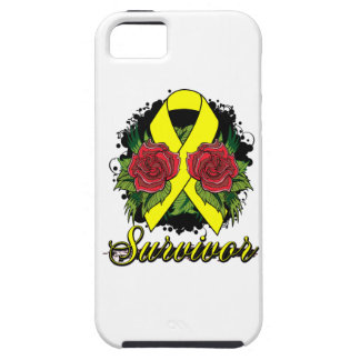 Ewings Sarcoma Survivor Rose Grunge Tattoo iPhone 5 Cover