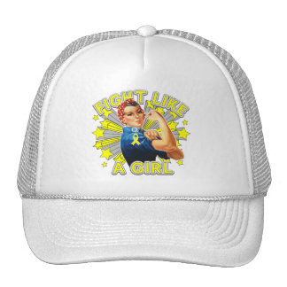 Ewings Sarcoma Vintage Rosie Fight Like A Girl Trucker Hat