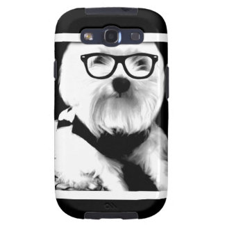 Ewok. Cute maltese with glasses Samsung Galaxy SIII Covers