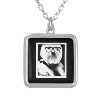 Ewok. Cute maltese with glasses Jewelry