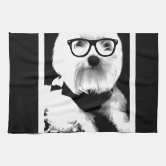 Ewok. Cute maltese with glasses Towels