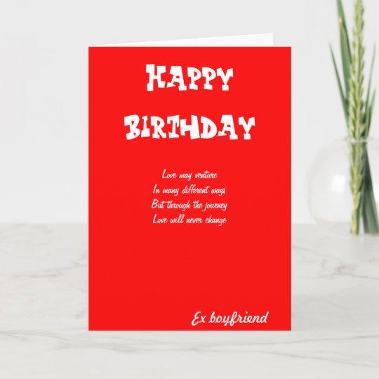 Ex Boyfriend Birthday Cards