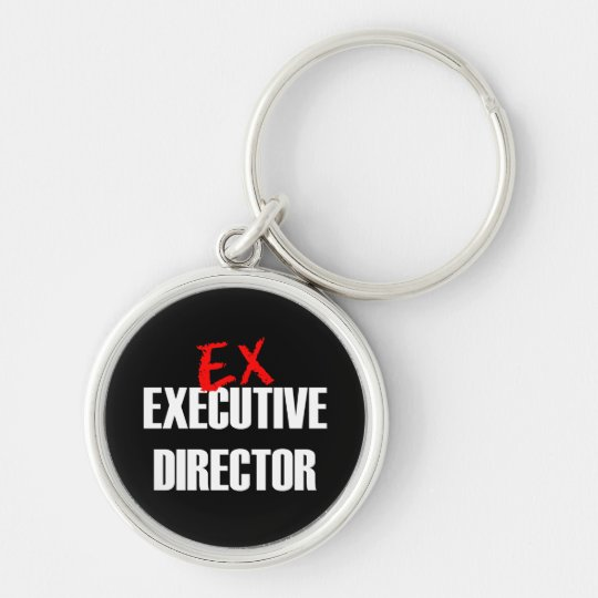 EX EXEC DIRECTOR DARK Silver-Colored ROUND KEY RING
