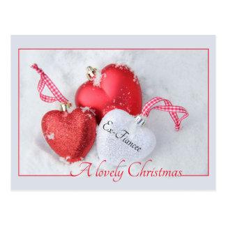 ex fiancee Merry Christmas card Postcard
