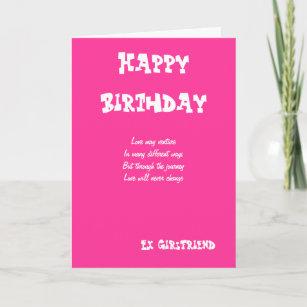 Ex Girlfriend Birthday Cards