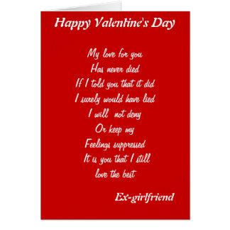 Ex-girlfriend valentine s day cards