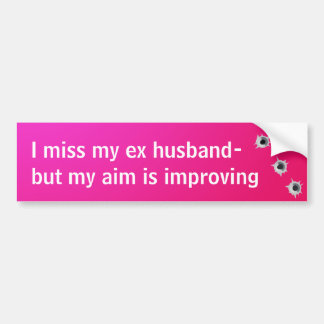 Ex Husband Bumper Sticker