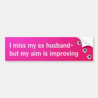 Ex Husband Bumper Sticker