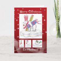 Husband Christmas Cards Uk.Ex Husband Cards Zazzle Uk