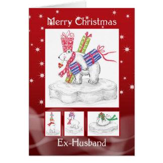 Ex-Husband Christmas Card - Polar Bears