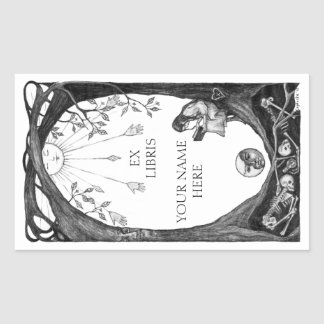 Ex Libris Bookplates Rectangular Sticker