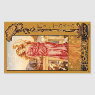 Ex Libris - Helen of Troy Book Plate Rectangular Sticker