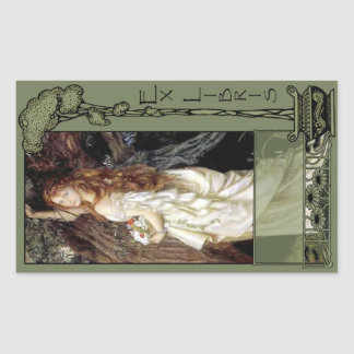 Ex Libris - Ophilia Book Plate Rectangular Sticker