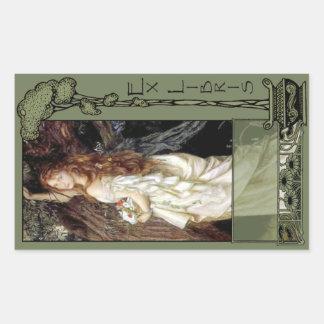 Ex Libris - Ophilia Book Plate Sticker