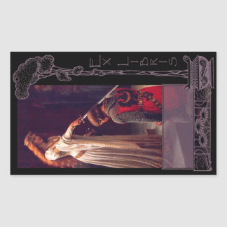 Ex Libris - The Accolade Book Plate Rectangular Sticker