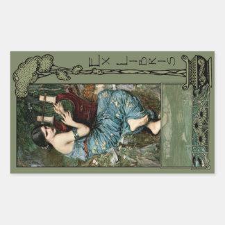 Ex Libris - The Charmer Book Plate Rectangular Sticker