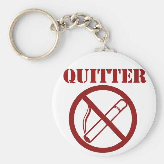 Ex Smoker because Im a QUITTER Basic Round Button Key Ring