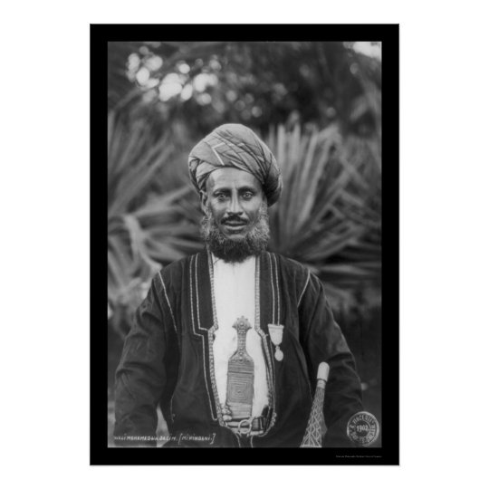 Ex-Sultan in Tanganyika, Africa 1902 Poster