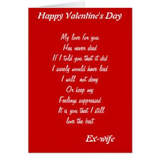 Ex-wife valentine's day cards