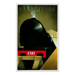 Exactitude ETAT French Railway Travel Art Poster