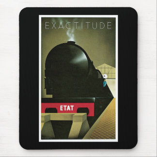 Exactitude Vintage French Railway Poster Mouse Mat