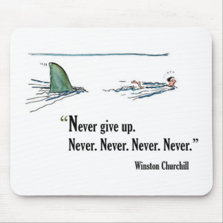 Exam motivational quote by Winston Churchill Mouse Mat