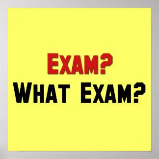 Exam? What Exam? Print