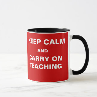 Exams Approaching Keep Calm Carry on Teaching Mug