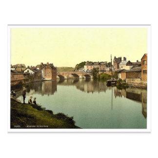 Exbridge, Exeter, England classic Photochrom Postcard