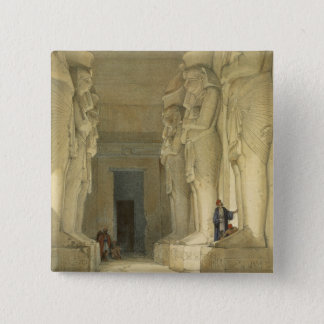 """Excavated Temple of Gysha, Nubia, from """"Egypt and 15 Cm Square Badge"""