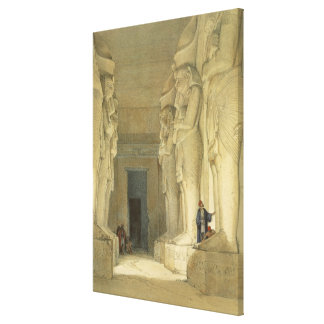 """Excavated Temple of Gysha, Nubia, from """"Egypt and Canvas Print"""