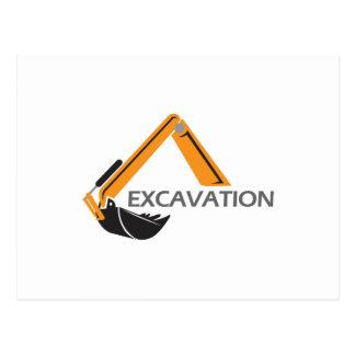 EXCAVATION POSTCARD