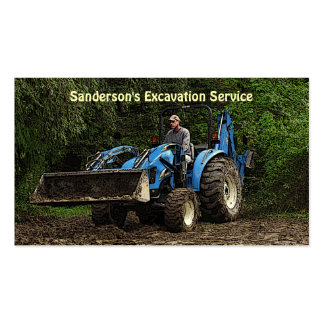 Excavation Service Business Card Template