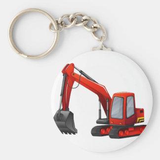 Excavator Basic Round Button Key Ring