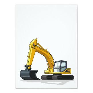 "Excavator 5.5"" X 7.5"" Invitation Card"