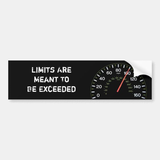 Exceed Your Limits Bumper Sticker
