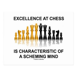 Excellence At Chess Characteristic Scheming Mind Postcard