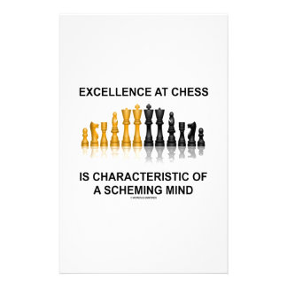 Excellence At Chess Characteristic Scheming Mind Stationery Paper