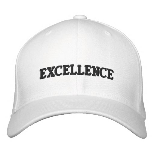 EXCELLENCE EMBROIDERED BASEBALL CAPS