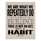 Excellence Is A Habit | Choose Your Colour Poster