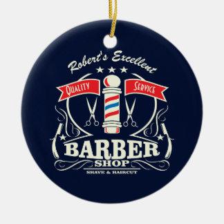 Excellent Barber Shop Stylist Shave Christmas Ornament