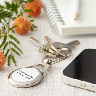 Excellent design oval keychain. Silver-Colored oval key ring