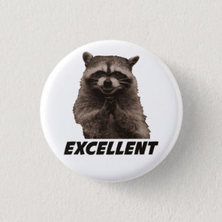Excellent Evil Plotting Raccoon 3 Cm Round Badge