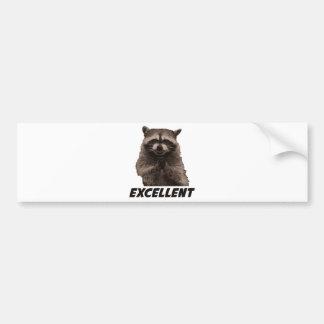 Excellent Evil Plotting Raccoon Car Bumper Sticker