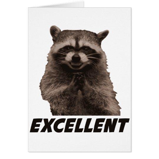 Excellent Evil Plotting Racoon Card