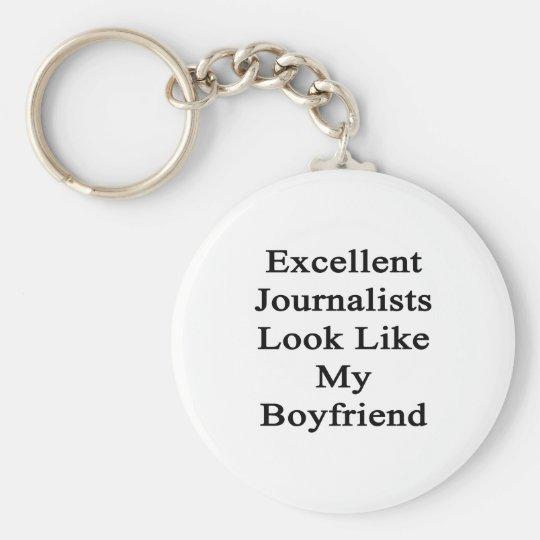 Excellent Journalists Look Like My Boyfriend Basic Round Button Key Ring